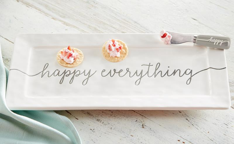 Happy Everything Ceramic Hostess Set,Mud Pie,4075142