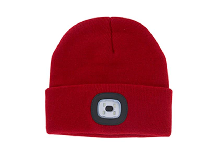 Night Scout™ Rechargeable LED Beanie,NGTS-RED