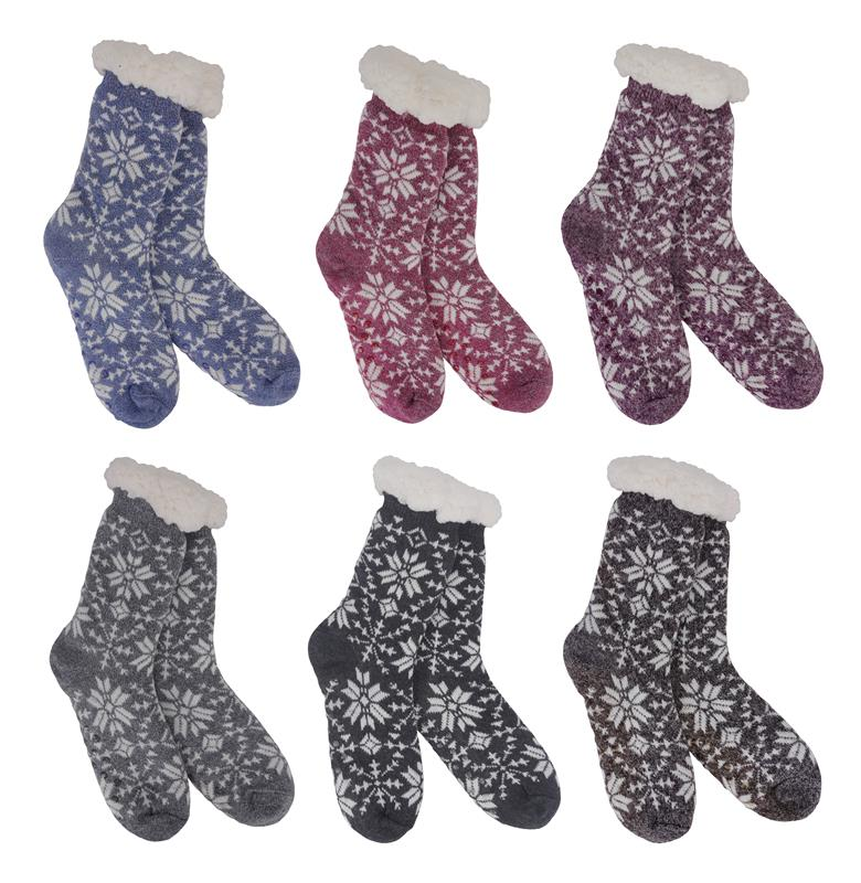 Heather Blend Slipper Socks,69270-F