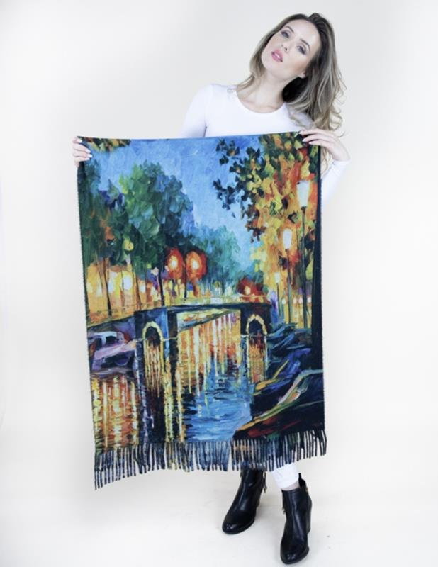 Art Scarf Le Jardin,FS40503-NVTQ