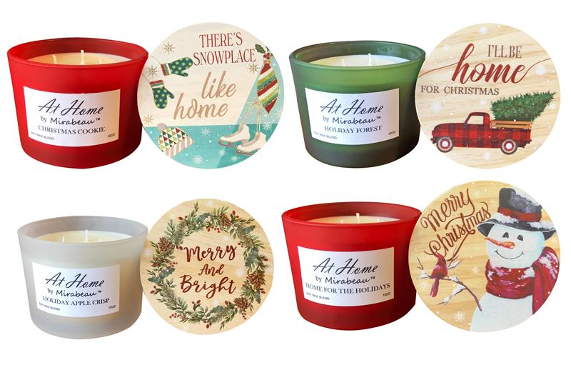 At Home Soy Candle Holiday Collection,70320-CD
