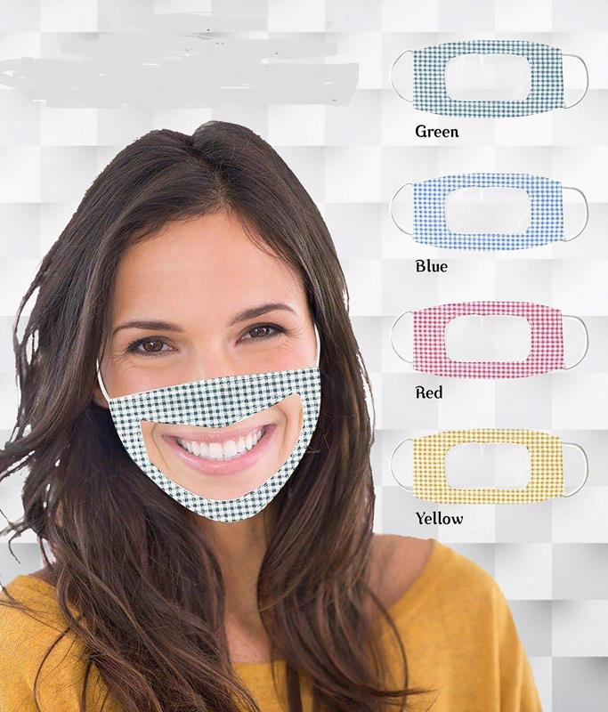 Gingham Mask with Window,MM16
