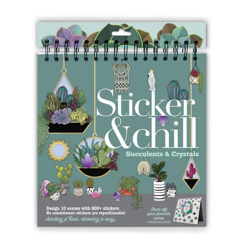 Sticker & Chill Succulents & Crystals,SC2081