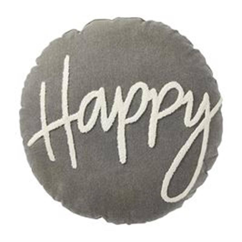 Happy Round Pillow,Mud Pie,41600434
